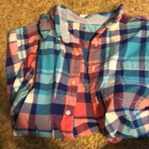 American Eagle, checked, slim fit, large